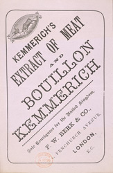 Advert For Kemmerich's Extract Of Meat reverse